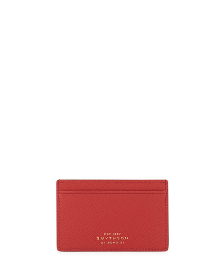 Smythson Panama 771 Card Case, Red