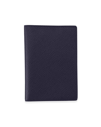 Panama Leather Passport Cover, Navy