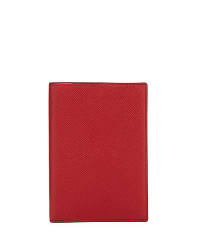 Panama Calfskin Passport Cover, Red