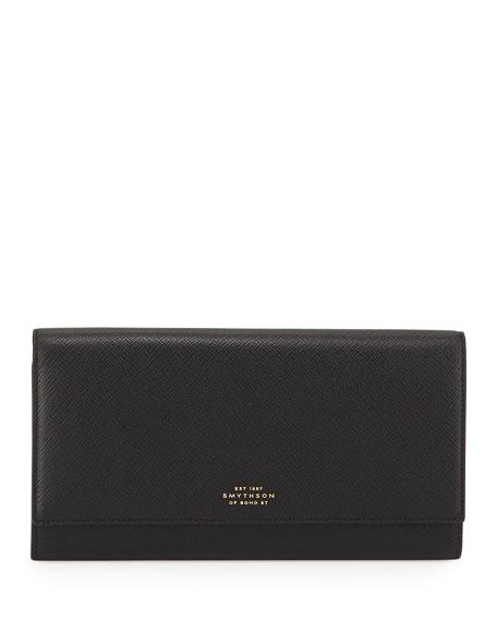 Panama Marshall Textured-leather Travel Wallet - Black Smythson UwTHq