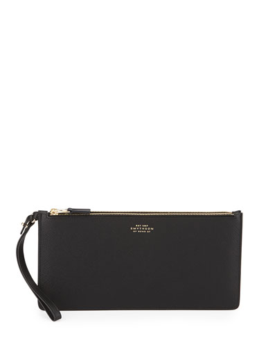 Panama Double Clutch Bag, Black