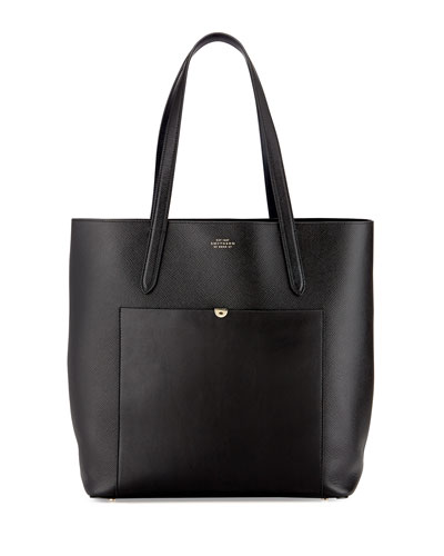 Panama North-South Tote Bag, Black
