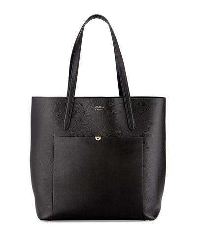 Panama North-South Tote Bag, Black