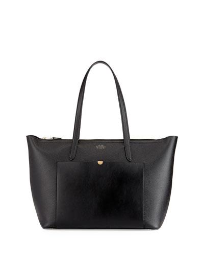 Panama East-West Zip Tote Bag, Black