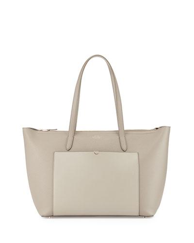 Panama East-West Zip Tote Bag, Gray