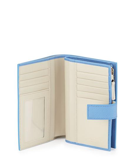 Panama Medium Continental Wallet, Blue