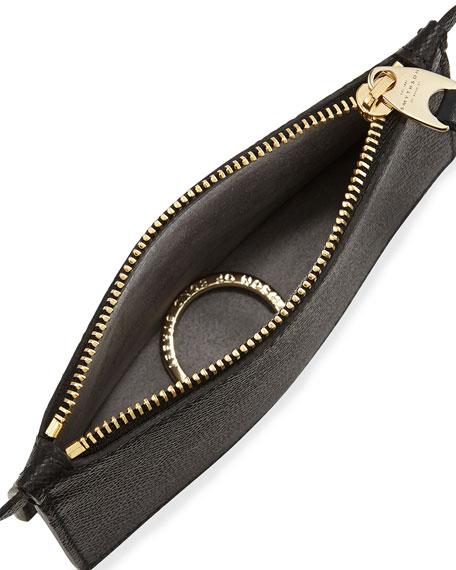 Panama Zip Pouch Key Ring, Black