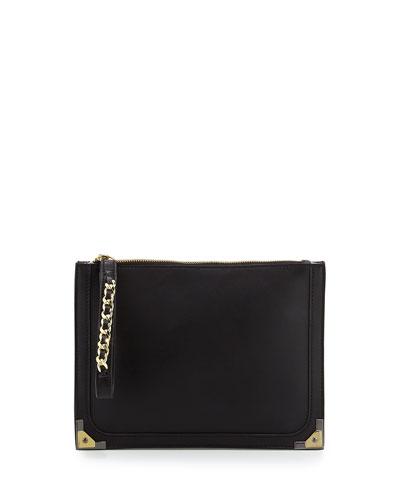 Nina Wristlet Clutch Bag, Black