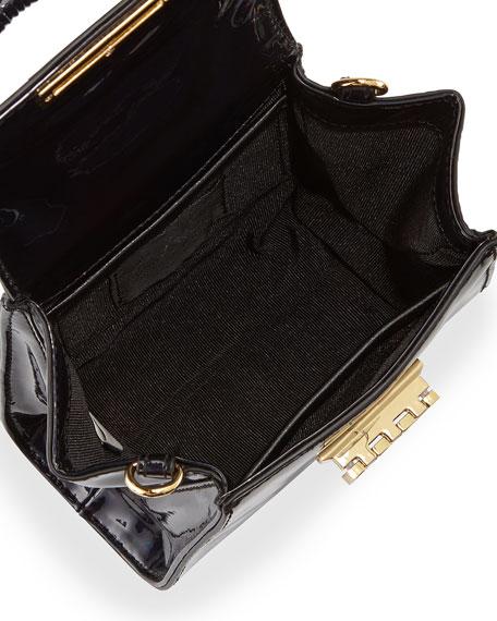 Holographic Eartha Mini Crossbody Bag, Petrol