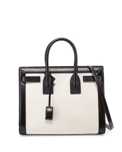 Sac De Jour Small Carryall, White/Black