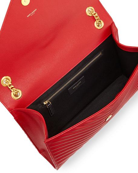 Monogram Matelasse Shoulder Bag, Red