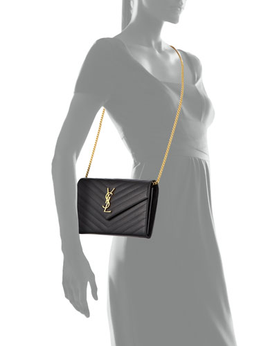 ysl pink patent clutch - monogram saint laurent envelope chain wallet in pale gold lizard ...
