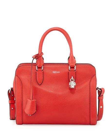 Alexander McQueenSmall Padlock Satchel Bag, Red
