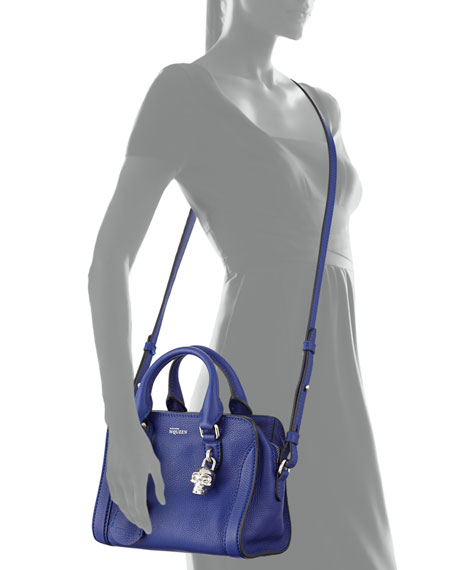 Mini Padlock Satchel Bag, Blue