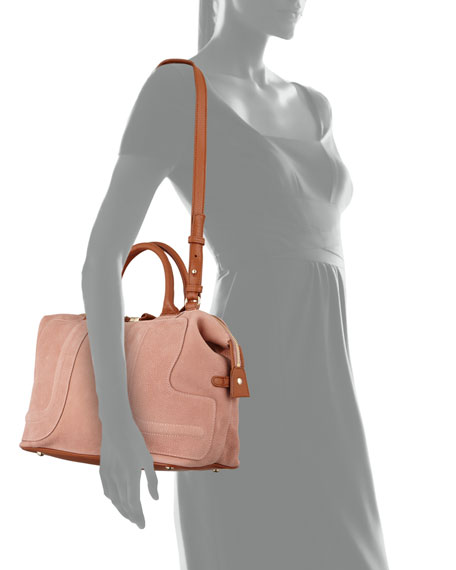 Kay Medium Satchel Bag Nougat