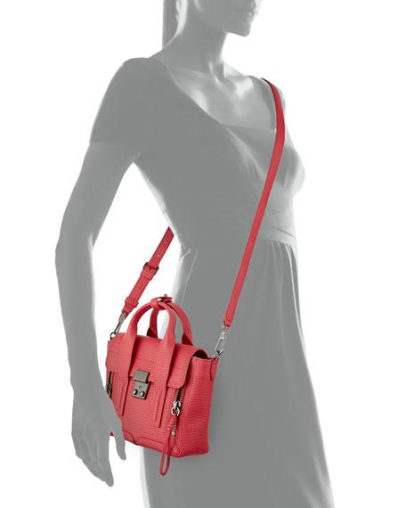 Pashli Mini Satchel Bag, Raspberry