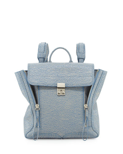 Pashli Zip Backpack, Periwinkle/Cream