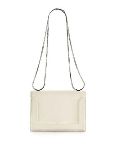 Soleil Mini Chain Shoulder Bag, Off White