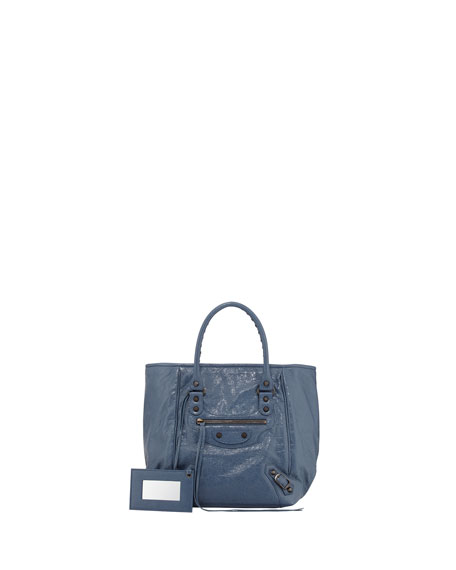Classic Sunday Small Tote Bag, Bleu Persan