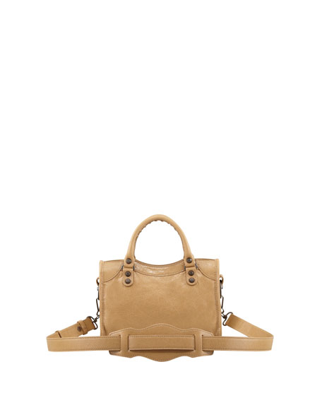Classic Mini City Bag, Beige Nougatine