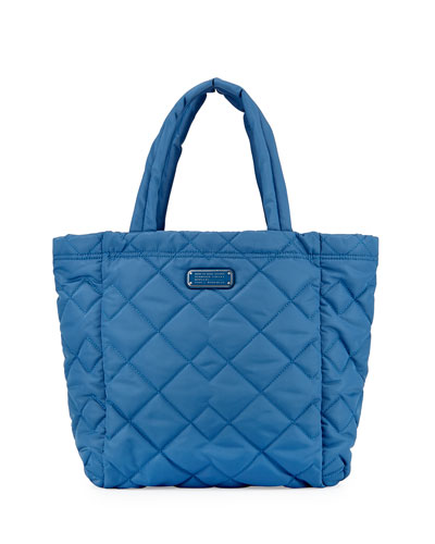 Crosby Quilted Tote Bag, Bluestone