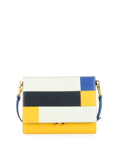 Marni File Frame Shoulder Bag White<br />
