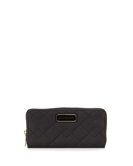 MARC by Marc Jacobs Sophisticato Quilted Slim Zip Wallet, Black : marc jacobs quilted wallet - Adamdwight.com