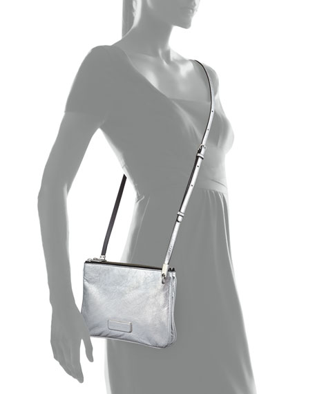 MARC by Marc Jacobs Ligero Novelty Double Percy Crossbody Bag, Silver