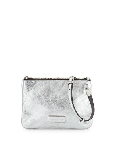 Ligero Novelty Double Percy Crossbody Bag, Silver