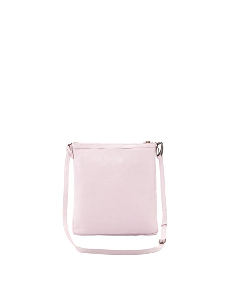 Classic Flat Crossbody Bag, Rose Poudre
