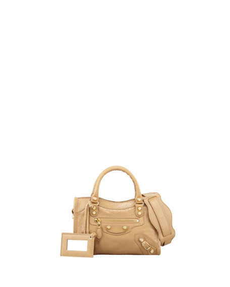 Giant 12 Golden Mini City Bag, Beige Nougat