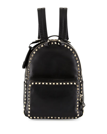 Valentino Rockstud Medium Backpack, Black