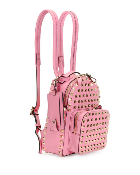 Valentino Rockstud Mini Backpack, Pink
