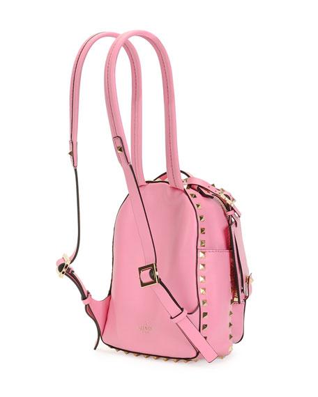ec59abec9a Valentino Garavani Rockstud Mini Backpack, Pink | Neiman Marcus