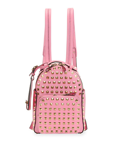 Rockstud Mini Backpack, Pink