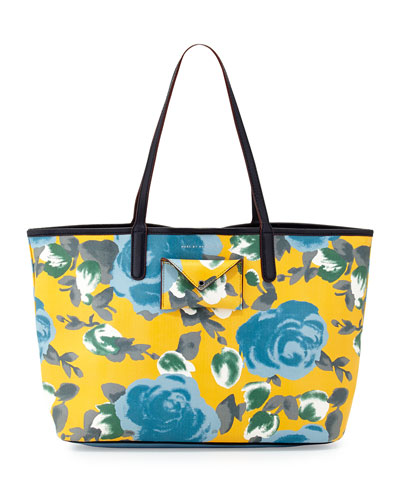 5929fb84a9 MARC by Marc Jacobs Metropolitote Floral-Print Tote Bag, Yellow Jacket