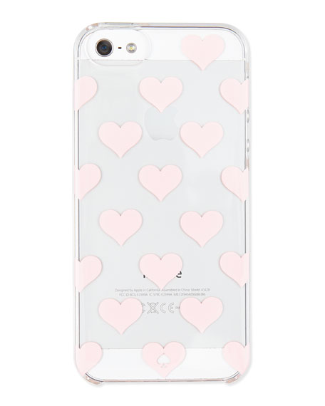 clear hearts iPhone 5 case