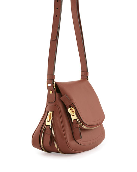 Jennifer Calfskin Crossbody Bag, Pink