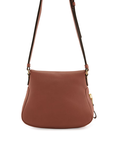 Jennifer Calfskin Crossbody Bag, Pink