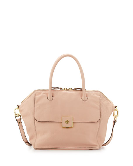 Tory Burch CLARA SATCHEL-CALF PEBBLE