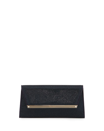 Margot Glitter Wallet Clutch Bag, Lame Ink
