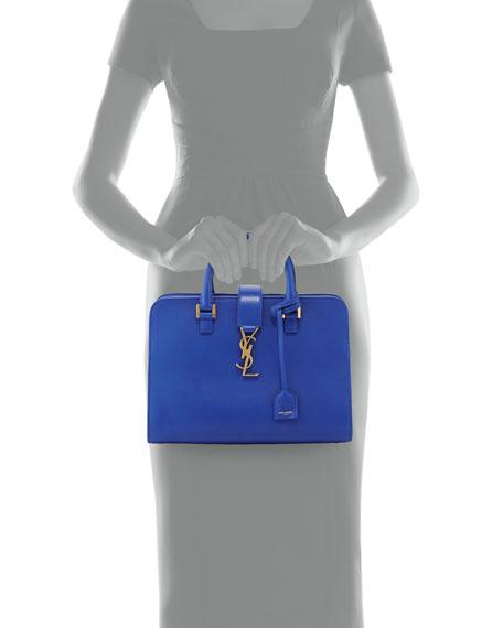 Monogram Small Zip-Around Satchel Bag, Bleu Majorelle