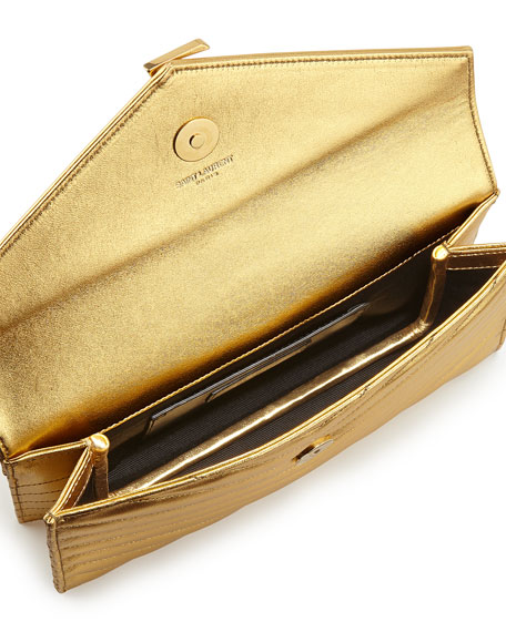 Monogramme Envelope Clutch Bag, Germilon Golden
