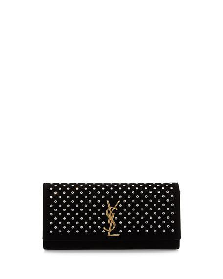 best replica prada bags - yves saint laurent embellished velvet clutch, ysl wallet online
