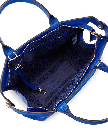 Le Pliage Heritage Saffiano Satchel Bag, Blue