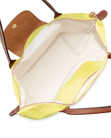 Le Pliage Large Shoulder Tote Bag, Lemon