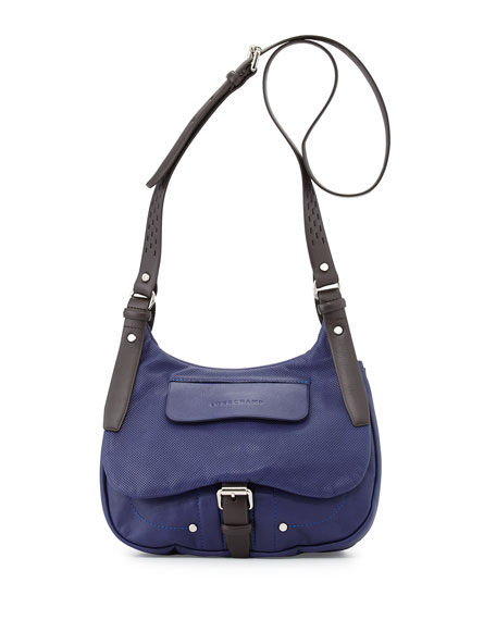Balzane Roots Leather Crossbody Bag, Blue