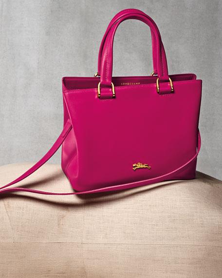 Longchamp Honore Handbag w/Removable Strap, Hot Pink