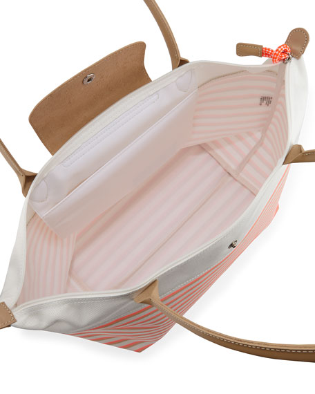 Mariniere Large Striped Tote Bag, Coral Multi