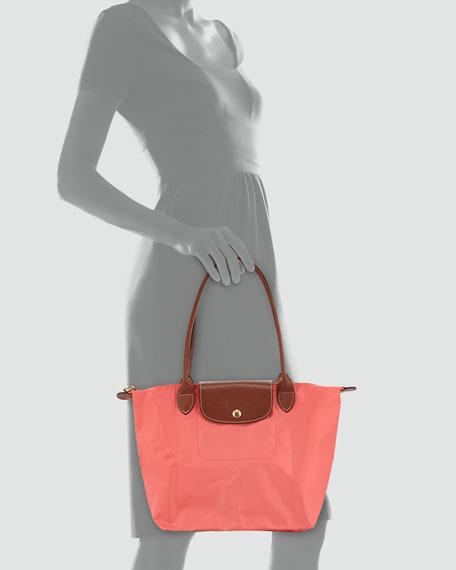 Le Pliage Medium Nylon Shoulder Tote Bag, Coral